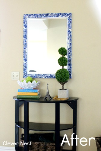 quick mirror makeover using napkins