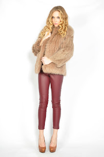 Vintage 1970's mocha colored fluffy fox fur coat