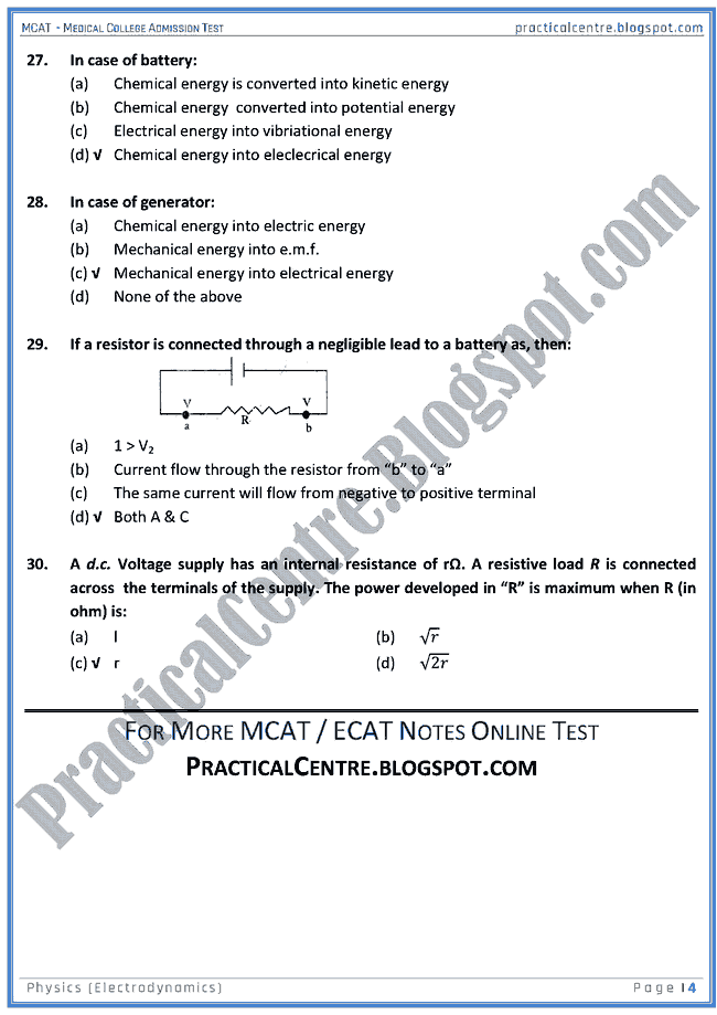 mcat-physics-electrodynamics-mcqs-for-medical-college-admission-test