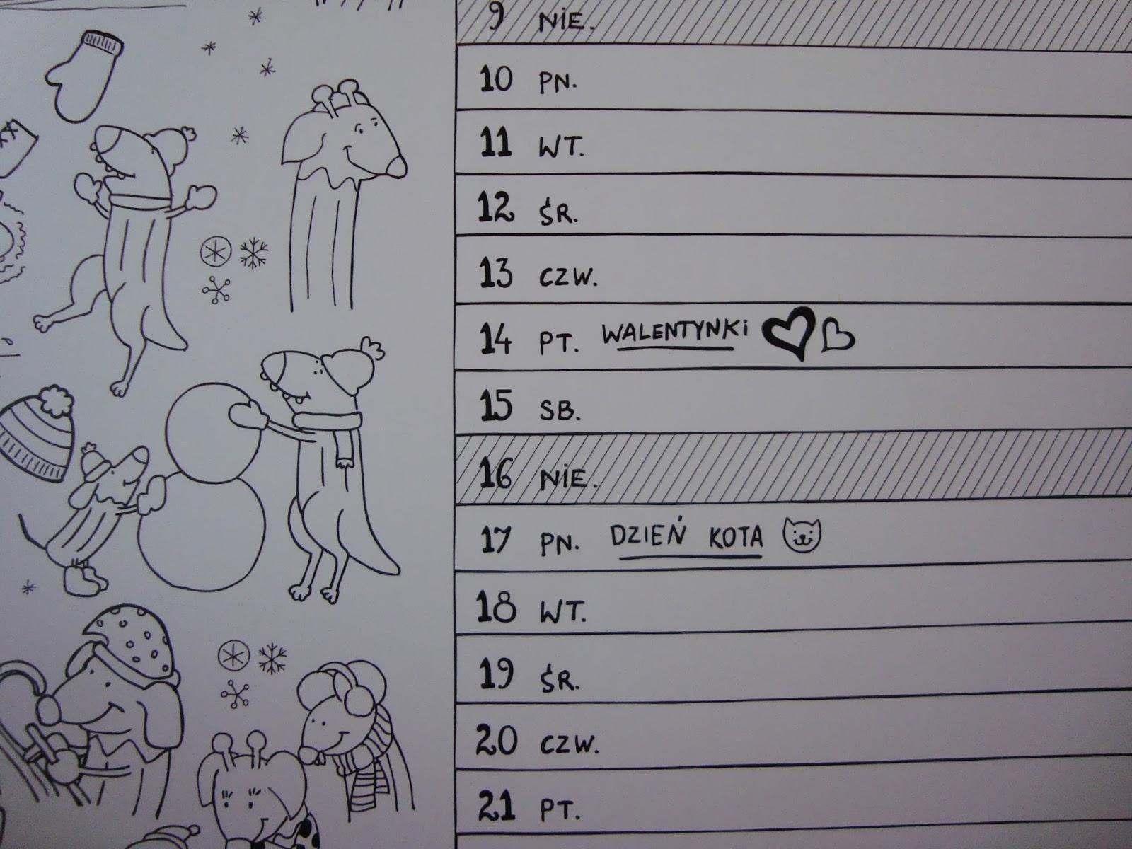 kalendarz dla dzieci, bazgroszyt