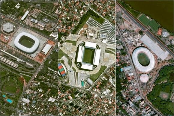 GALERI: Stadion-stadion Piala Dunia 2014 Brasil dari Luar Angkasa