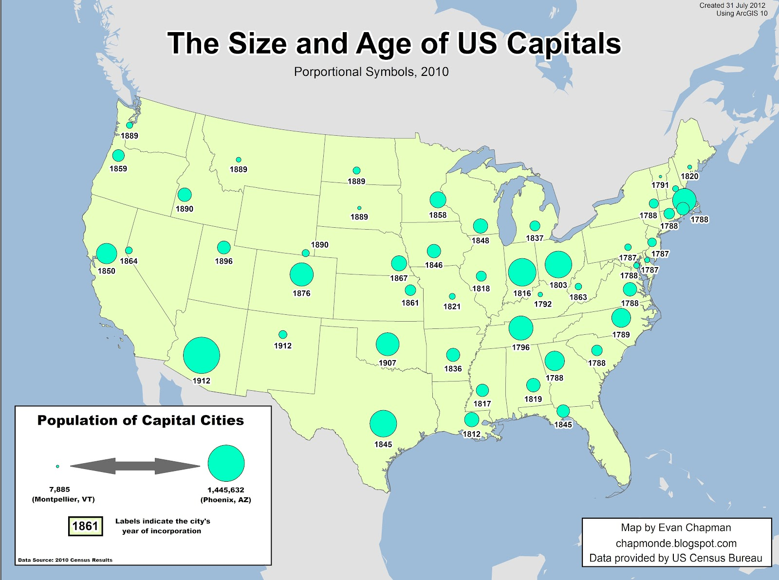 US Map With Capitals 50 States And Capitals US State Capitals List