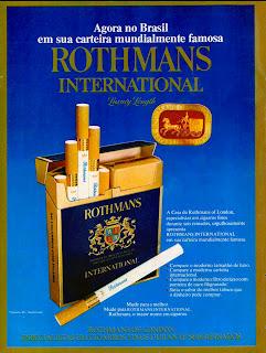 propaganda cigarros Rothmans - 1974.  propaganda anos 70; história decada de 70; reclame anos 70; propaganda cigarros anos 70; Brazil in the 70s; Oswaldo Hernandez;