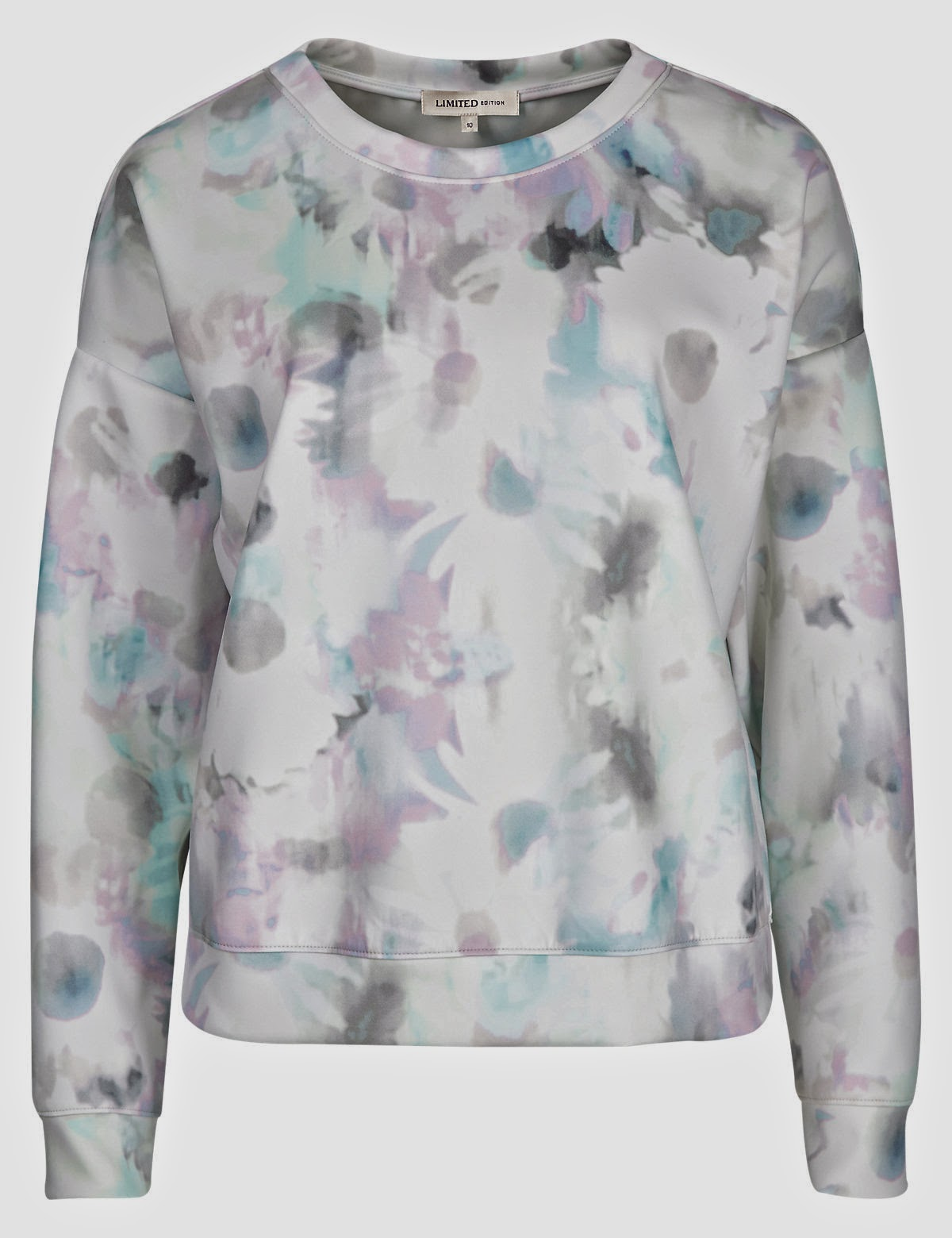Limited Edition blurred floral sweat top pictures and price