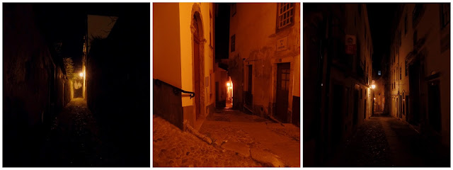 Coimbra Portugal Callejones becos noite luz