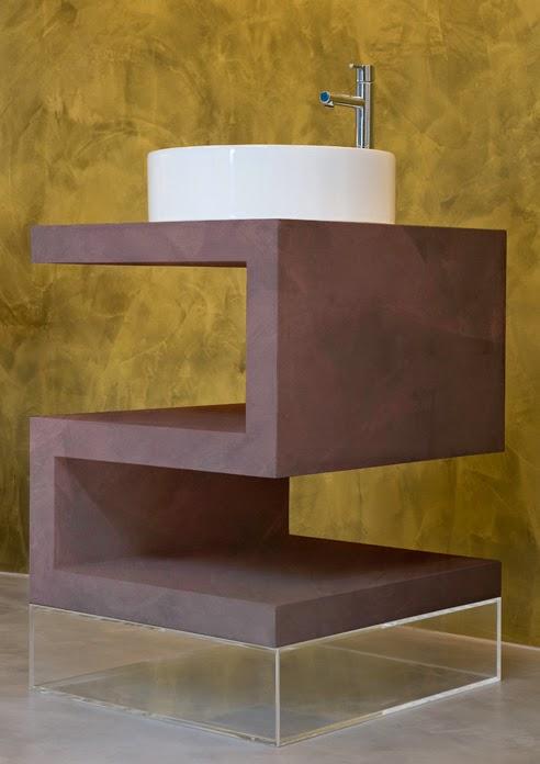mueble diseño microcemento
