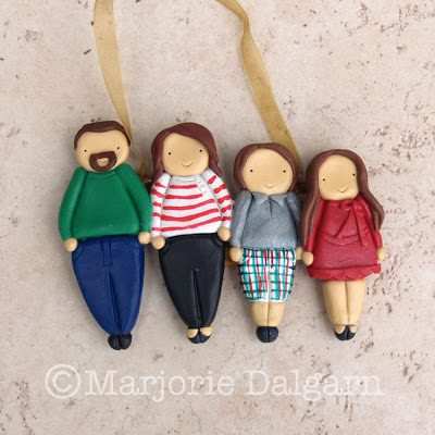 Custom Polymer Clay Family Ornament | livingwiththreemoonbabies.blogspot.com