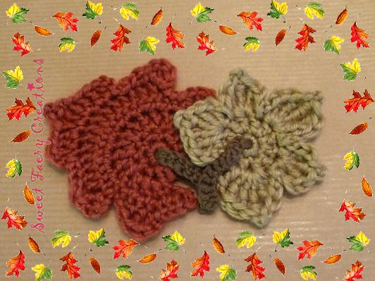 Sweet Faery Creations: ♡ Tutorial: hojas otoñales de ganchillo