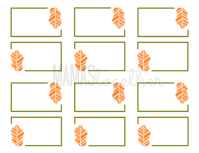Mamas Together Thanksgiving Place Card Printables Amp Diy