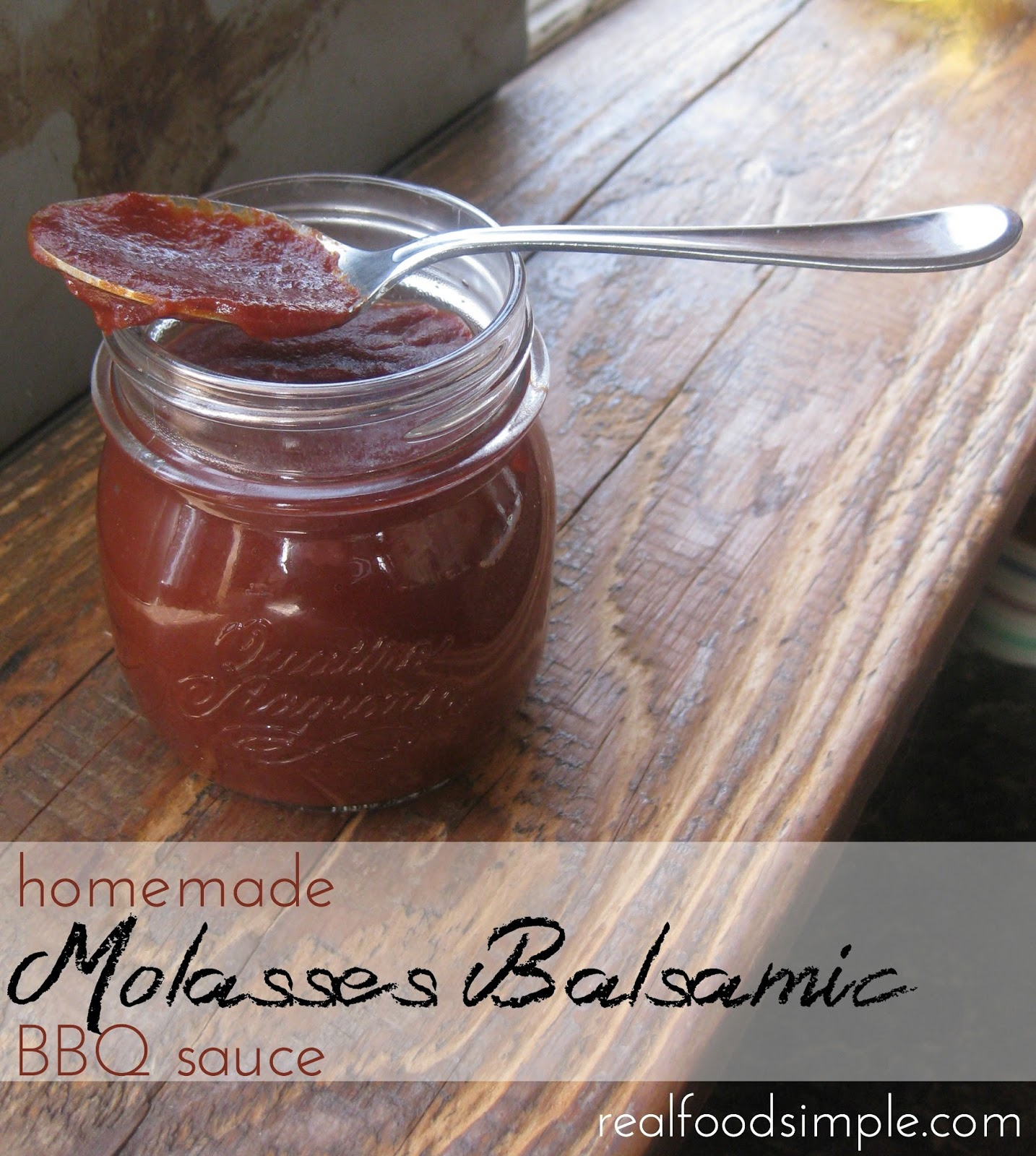molasses balsamic BBQ sauce | realfoodsimple.com