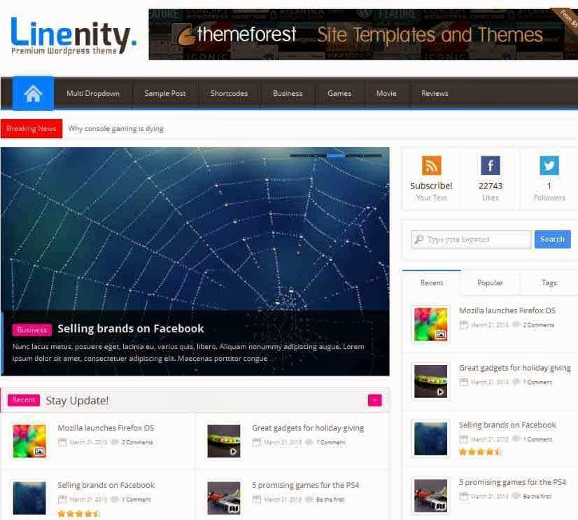 Linenity - Clean Responsive Wordpress Magazine