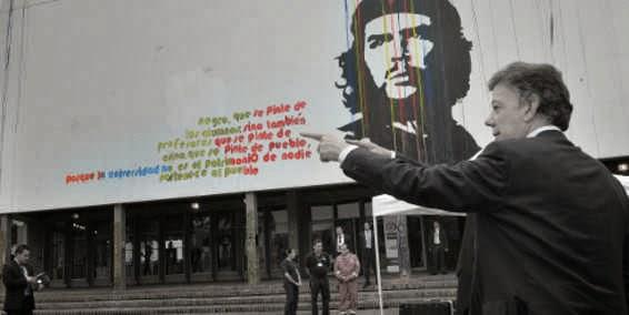 Santos y el Che Guevara