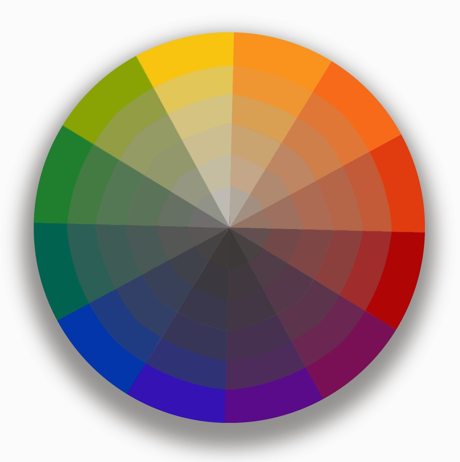 Terry miura studio notes a little more on the color wheel for Picture of colour wheel