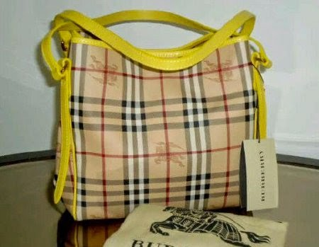 Tas Burberry Canterburry Haymarket Yellow model terbaru