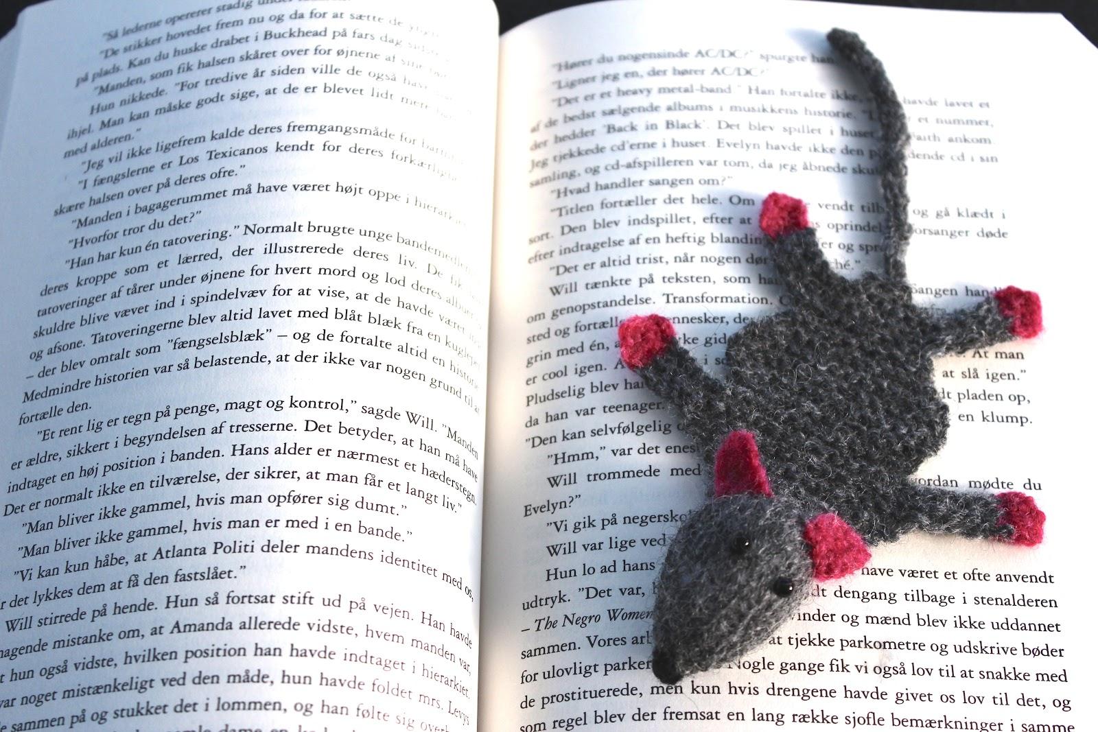 hæklet bogmærke rotte