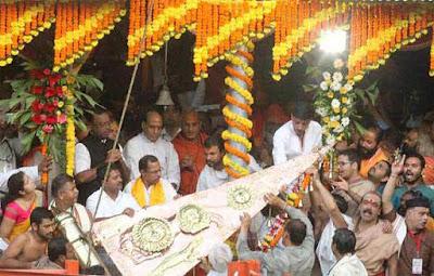 Nashik Mahakumbh 2015, Nashik kumbh Mela 2015, Kumbh flag hoisting, Rajnath Singh, Devendra Fadnavis