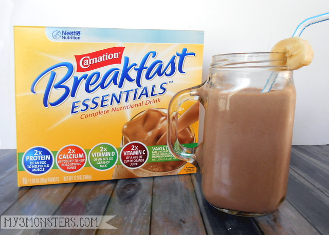 Delicious Snack Smoothie recipes made with Cranation Breakfast Essentials at my3monsters.com