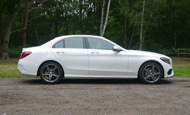 Mercedes-Benz C220 AMG Line side view