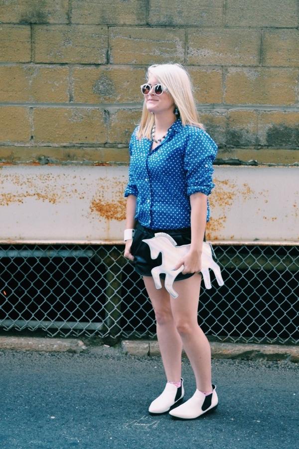Akron Ohio fashion - holographic unicorn clutch