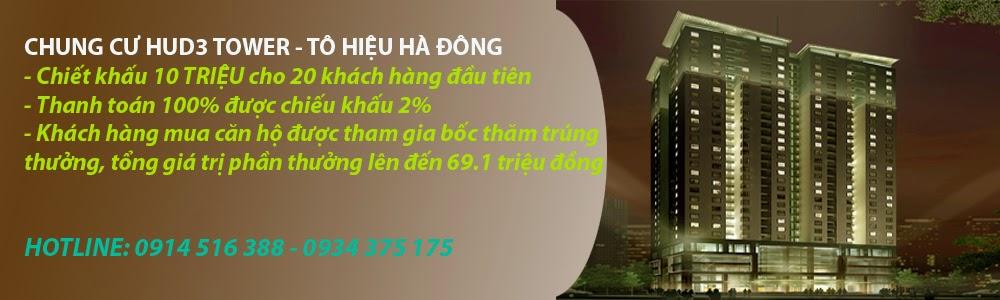 Phòng Kinh doanh HUD3  Hà Đông - Mở bán Chung cư Hud3 Tower giá 15.2tr/m2
