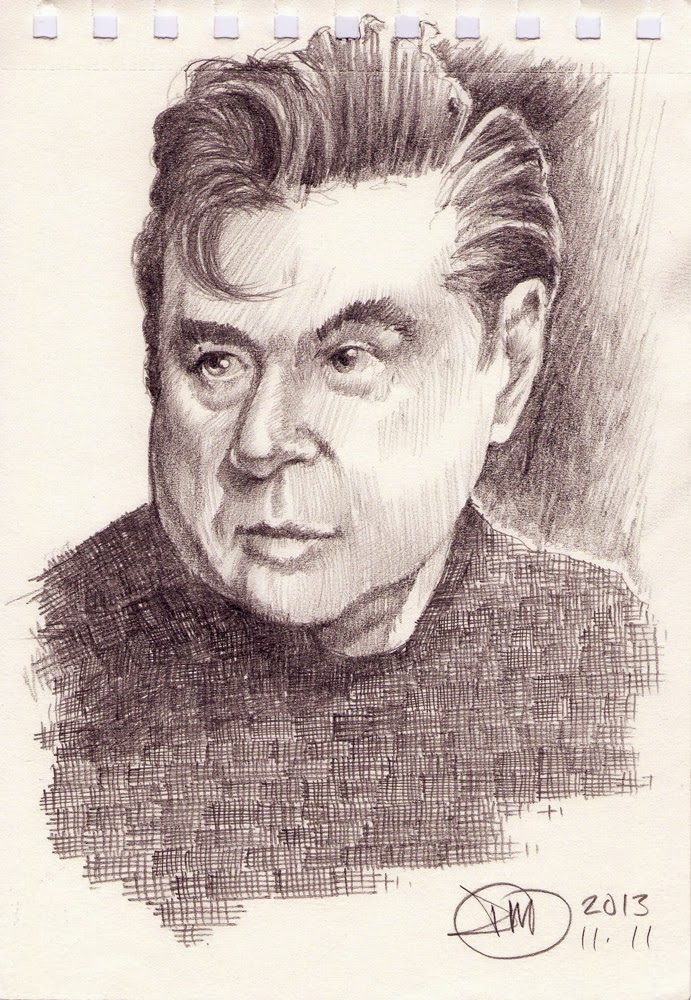 Sketch of Francis Bacon by David Meldrum