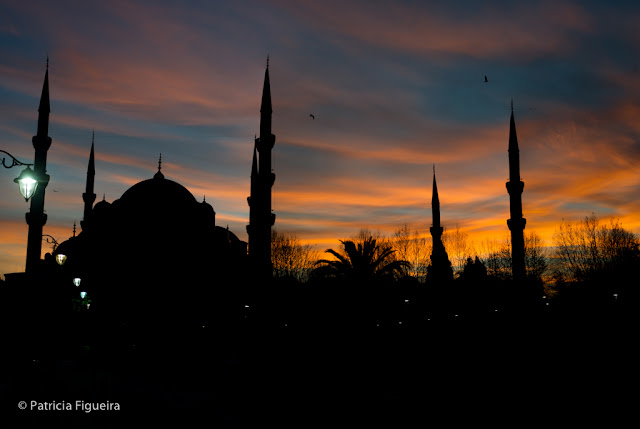 Blue Mosque under the sunset