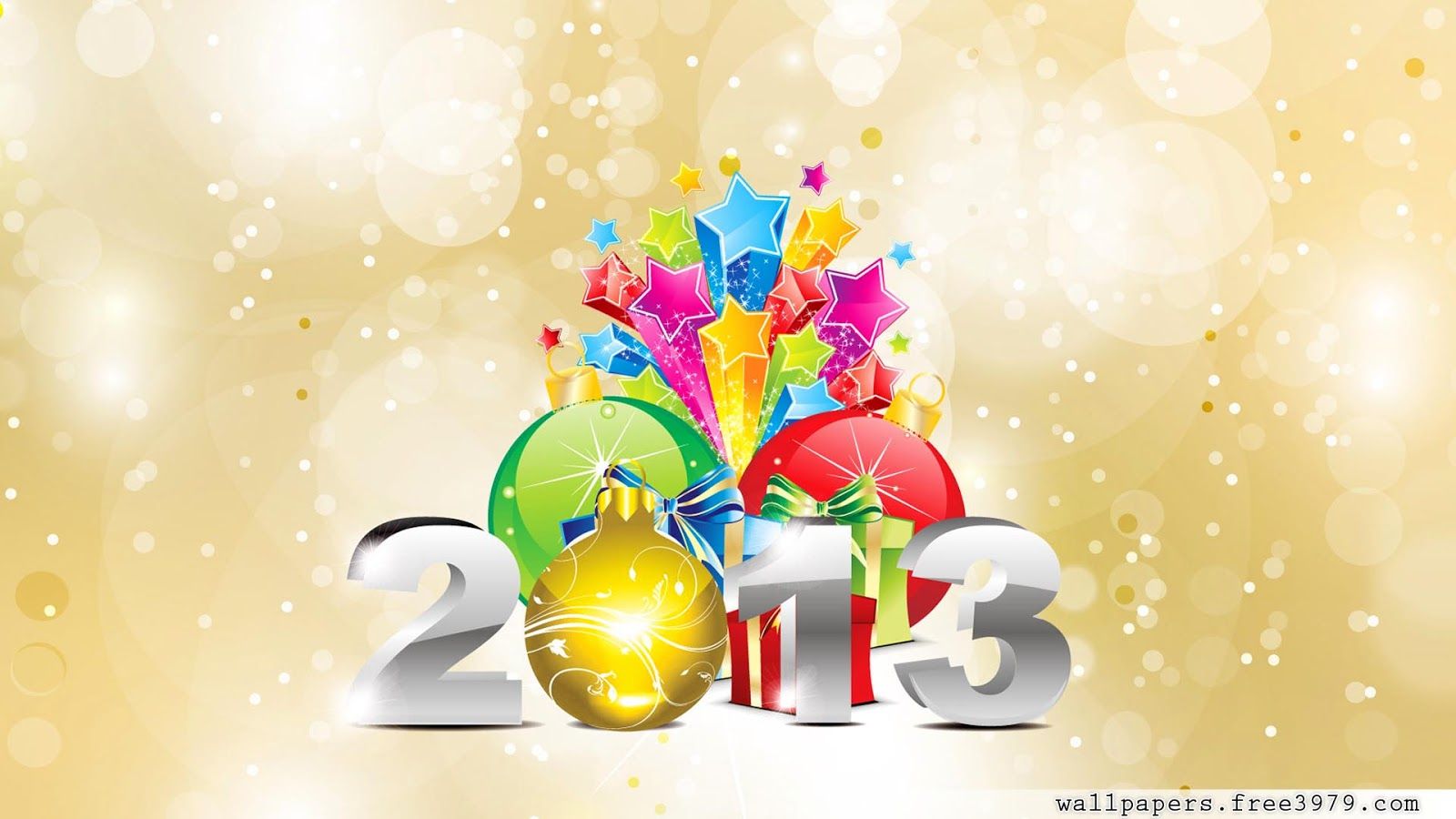 Free 2013 New Year 3D wallpapers 2013 Photos