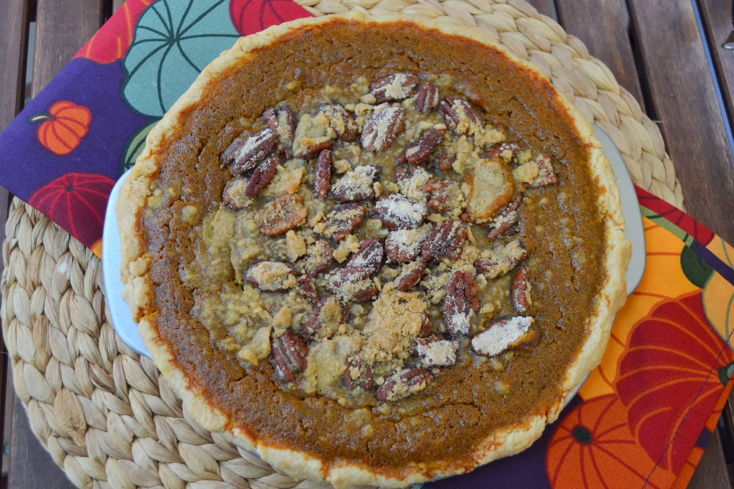 Test Kitchen: Bourbon Pumpkin Pie with Pecan Streusel