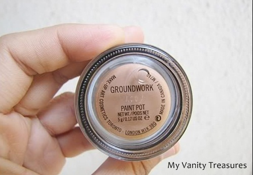 Mac paint pot in groundwork review and eotd my vanity for Mac paint pot groundwork