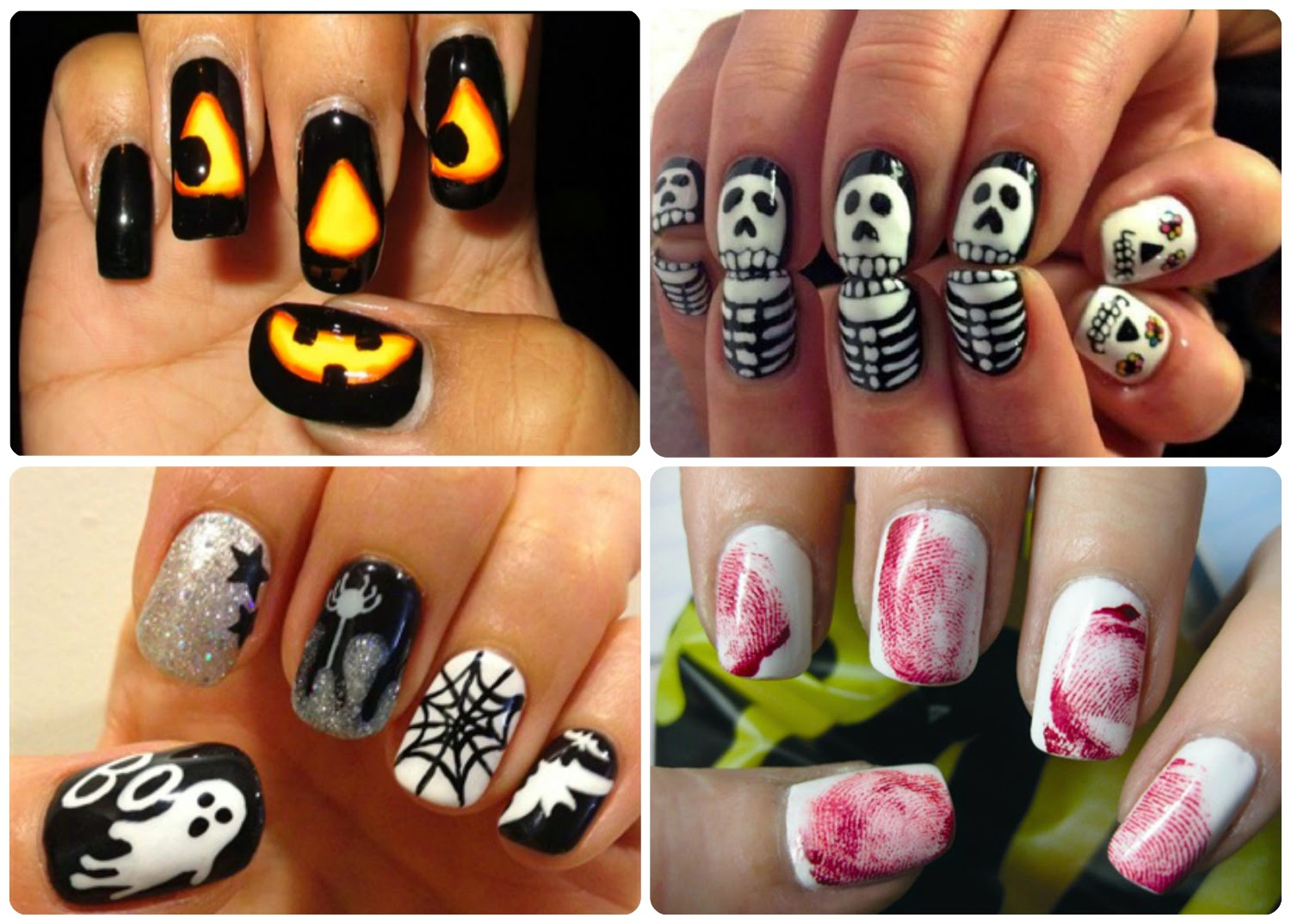 If you're not keen on wearing a costume, why not try these Halloween nail art ideas?