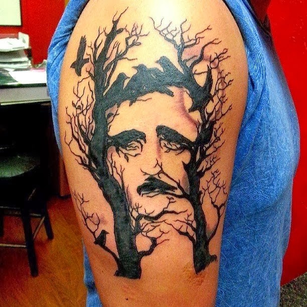 Illusive portrait tattoo on arm