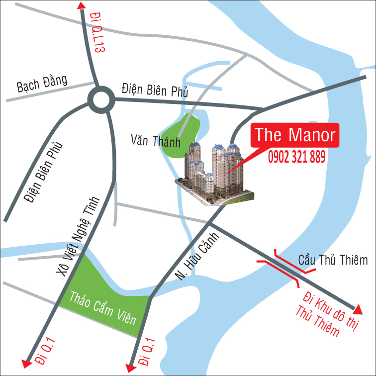 vị trí căn hộ the manor