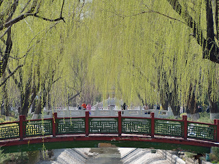 Bridge in Changpuhe Park in Beijing