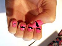 http://ramblingsofababymakingaddict.blogspot.com/2012/11/movember-inspired-moustache-nail-art.html