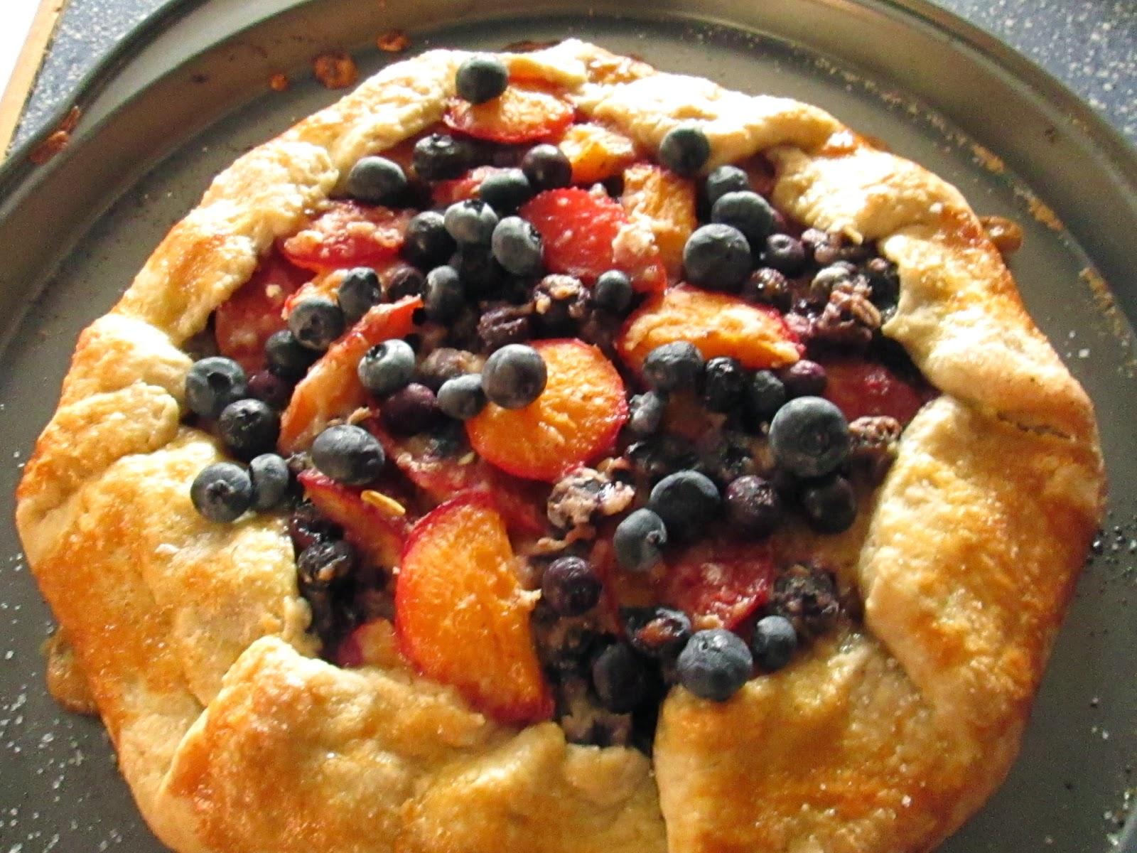 Blueberry & plums Galette - Recetas de cocina