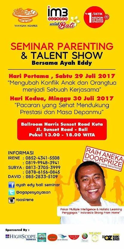 WORKSHOP DI BALI 29 - 30 JULI 2017