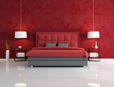 Decor interiores Dormitórios carmesim
