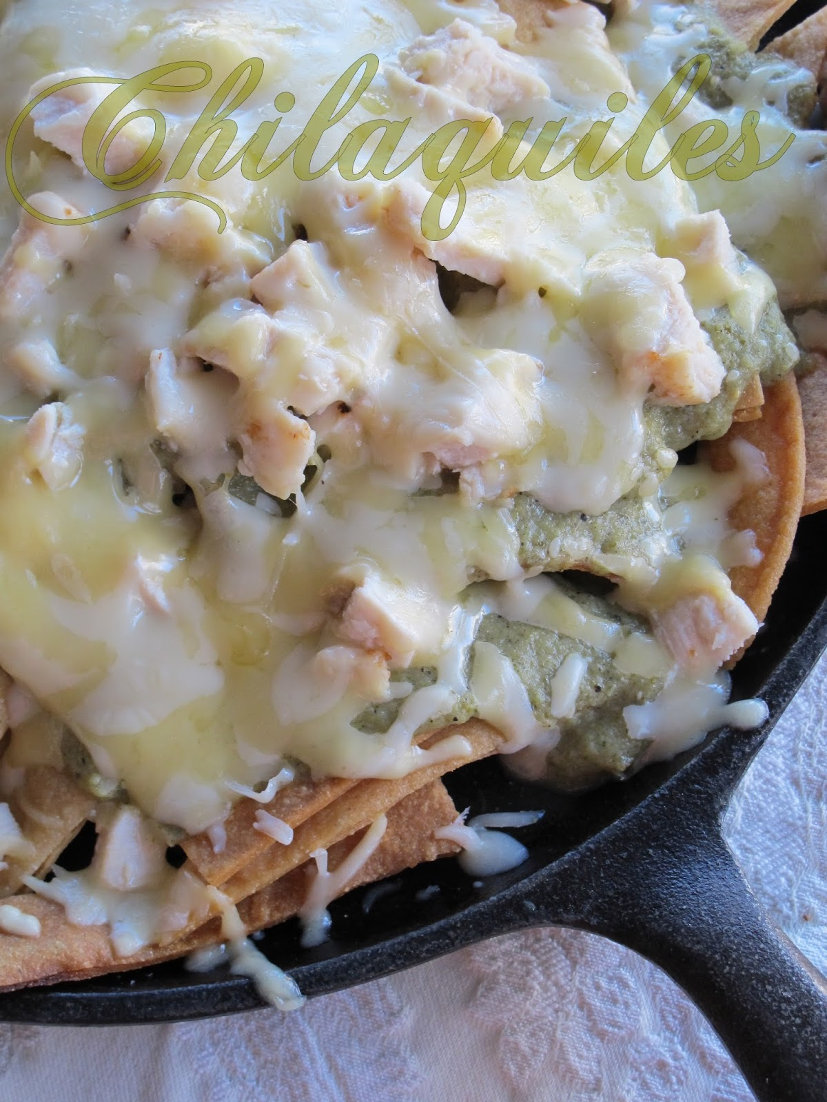 Purple Chocolat Home: Chilaquiles with Chicken and Roasted Tomatillo ...