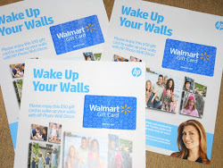 HP Wake Up Your Walls Giveaway: Three winners will win a $50 Walmart gift card! :)