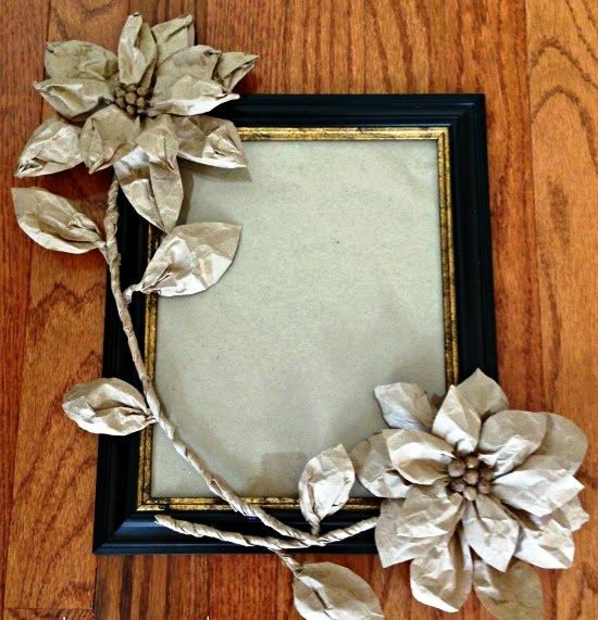 Handmade photo frame craft project