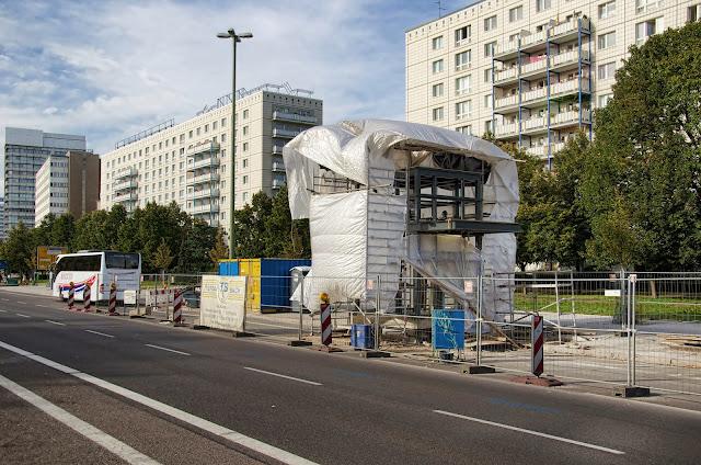 Baustelle Einbau eines Aufzuges, U5 Schillingstraße, 10178 Berlin, 04.10.2013