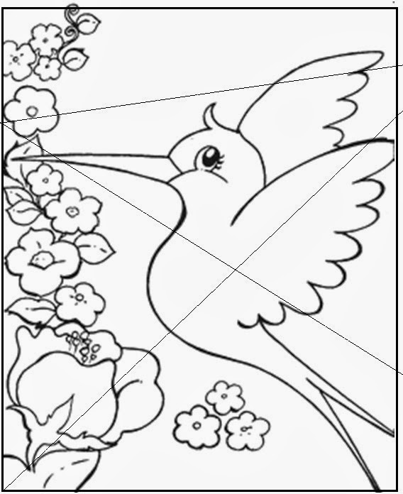 Quebra cabeça de beija flor e galinha