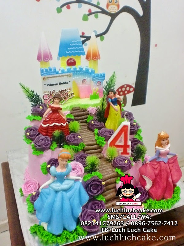 Kue Tart Princess Disney Daerah Surabaya - Sidoarjo