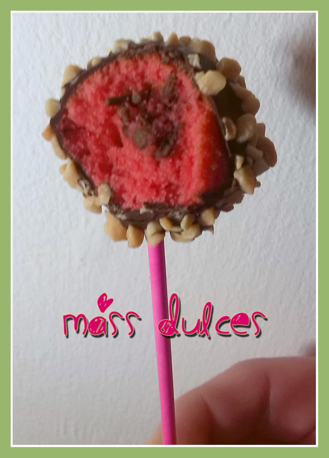 Mass dulces cakes pops rosas rellenos de rocher y for Cake pops cobertura