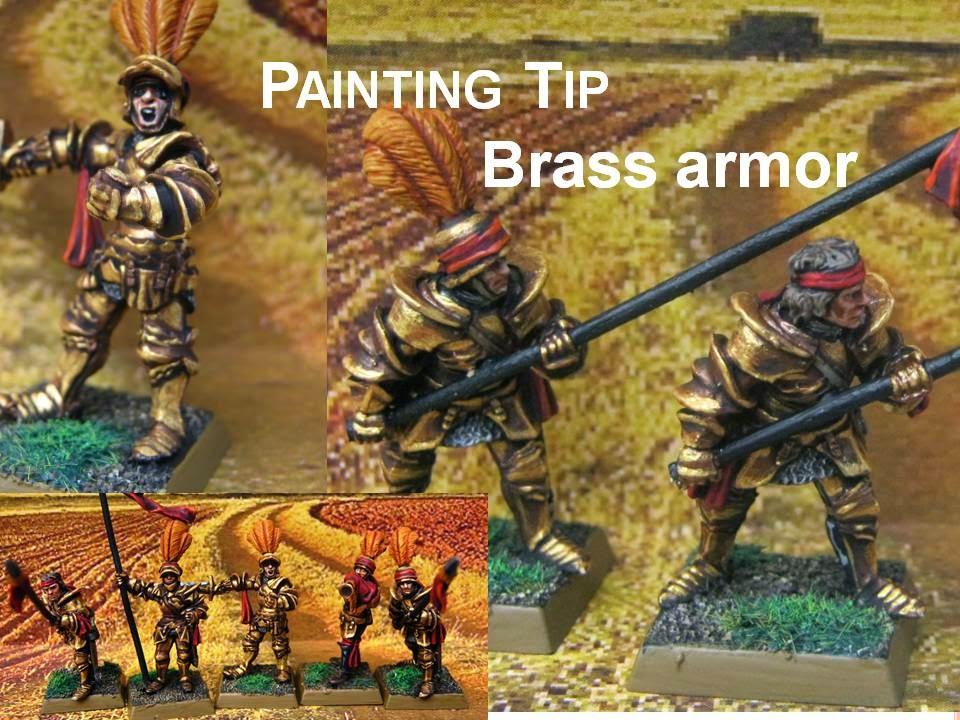 Cómo pintar armaduras de latón