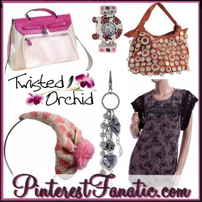 Twisted Orchid, Purse, Mother of Pearl, Natural Horn