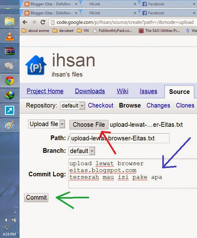 cara upload file ke google code menggunakan browser Gambar4
