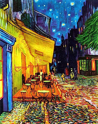 gogh van vincent terrace night cafe place du forum painting paintings elements cafe because photojournalism variety goghs 1888 pinturas caf