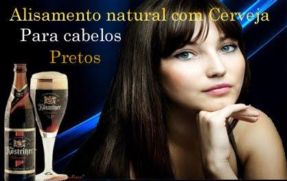 Alisamento natural com cerveja