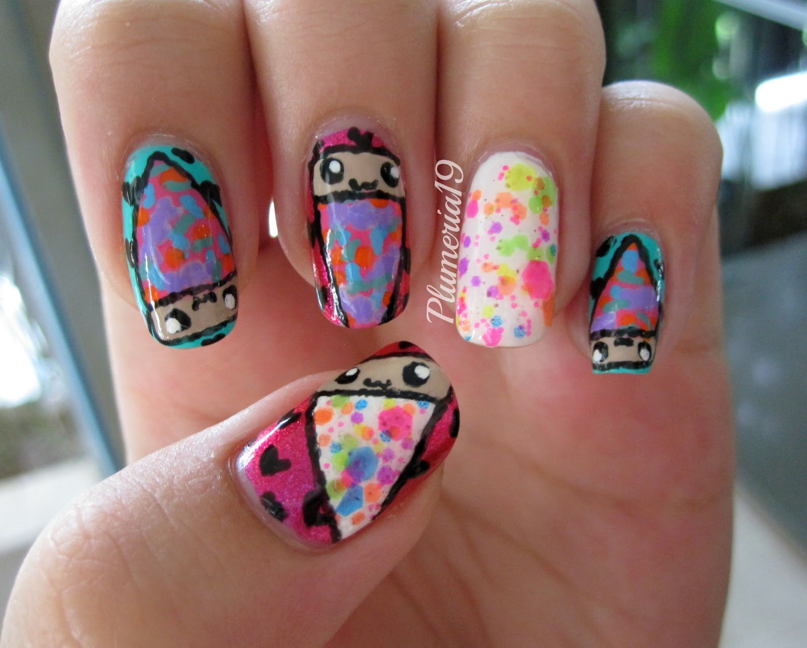 PlumeriaPainted: Candy Pizza Nail Art